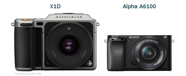Hasselblad x1d vs Sony a6100