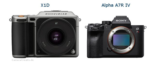 Hasselblad x1d vs Sony a7r iv