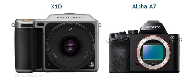 Hasselblad x1d vs Sony alpha a7
