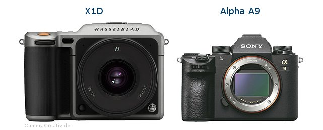 Hasselblad x1d vs Sony alpha a9