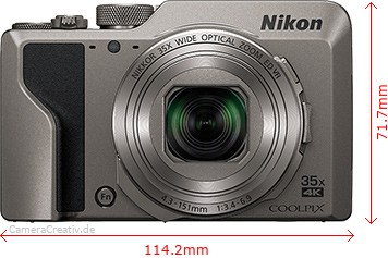 Nikon Coolpix A1000 Dimensions (Width / Height)