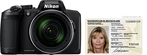 Nikon Coolpix B600 size comparison