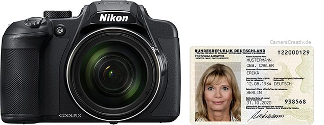 Nikon Coolpix B700 size comparison