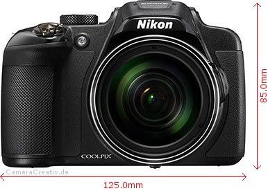 Nikon Coolpix P610 Dimensions (Width / Height)