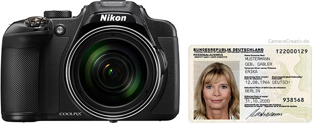 Nikon Coolpix P610 size comparison