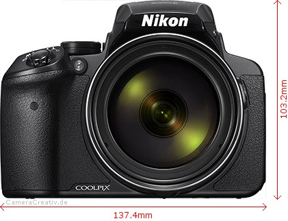 Nikon Coolpix P900 Dimensions (Width / Height)