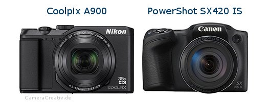 Nikon coolpix a900 oder Canon powershot sx420 is