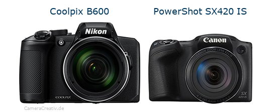 Nikon coolpix b600 vs Canon powershot sx420 is