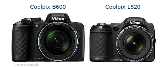 Nikon coolpix b600 vs Nikon coolpix l820