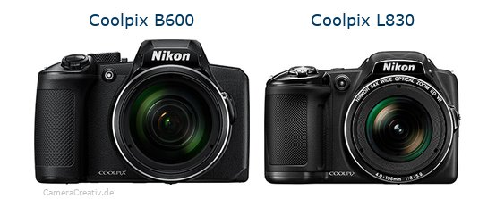 Nikon coolpix b600 vs Nikon coolpix l830