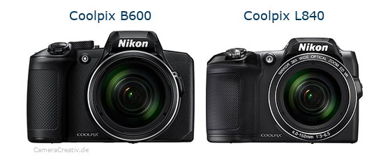 Nikon coolpix b600 vs Nikon coolpix l840