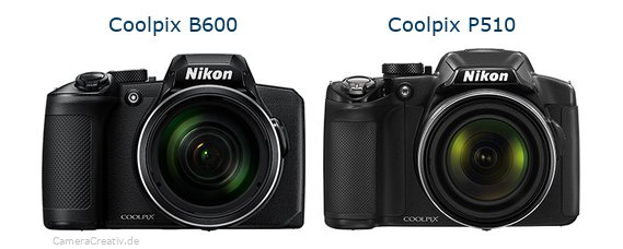 Nikon coolpix b600 vs Nikon coolpix p510
