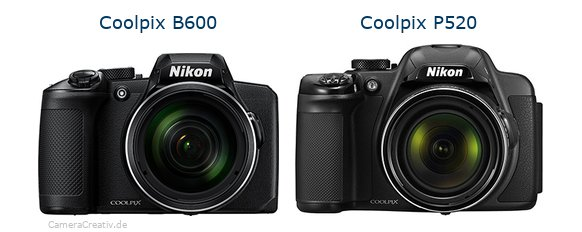 Nikon coolpix b600 vs Nikon coolpix p520