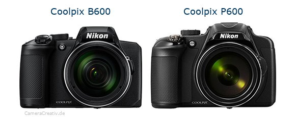 Nikon coolpix b600 vs Nikon coolpix p600