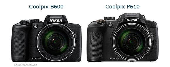 Nikon coolpix b600 vs Nikon coolpix p610
