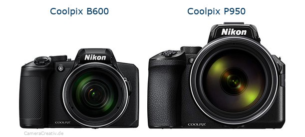 Nikon coolpix b600 vs Nikon coolpix p950