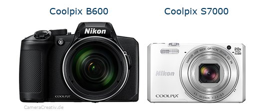 Nikon coolpix b600 vs Nikon coolpix s7000