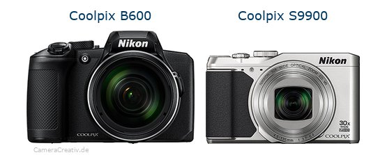 Nikon coolpix b600 vs Nikon coolpix s9900