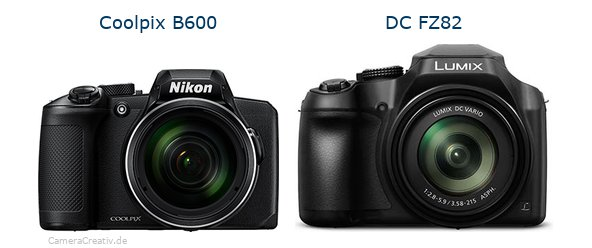 Nikon coolpix b600 vs Panasonic dc fz 82