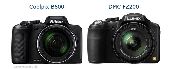 Nikon coolpix b600 vs Panasonic dmc fz 200