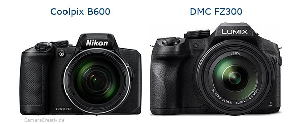Nikon coolpix b600 vs Panasonic dmc fz 300