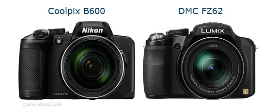 Nikon coolpix b600 vs Panasonic dmc fz 62