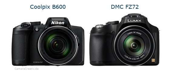 Nikon coolpix b600 vs Panasonic dmc fz 72