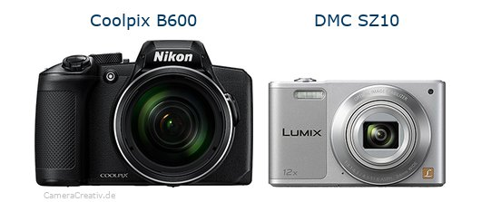 Nikon coolpix b600 vs Panasonic dmc sz 10