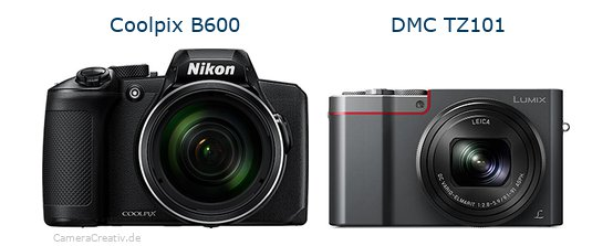 Nikon coolpix b600 vs Panasonic dmc tz 101