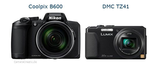 Nikon coolpix b600 vs Panasonic dmc tz 41