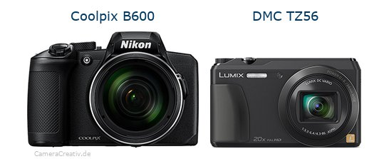 Nikon coolpix b600 vs Panasonic dmc tz 56