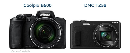 Nikon coolpix b600 vs Panasonic dmc tz 58