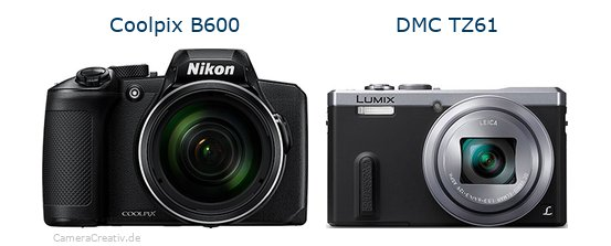 Nikon coolpix b600 vs Panasonic dmc tz 61