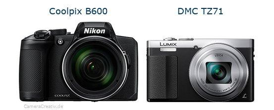 Nikon coolpix b600 vs Panasonic dmc tz 71