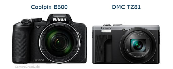 Nikon coolpix b600 vs Panasonic dmc tz 81