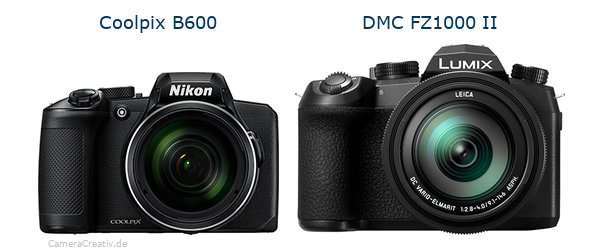 Nikon coolpix b600 vs Panasonic lumix fz1000 ii