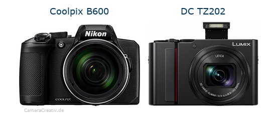 Nikon coolpix b600 vs Panasonic lumix tz 202