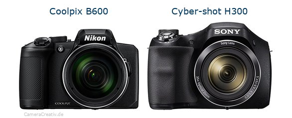 Nikon coolpix b600 vs Sony cyber shot h300