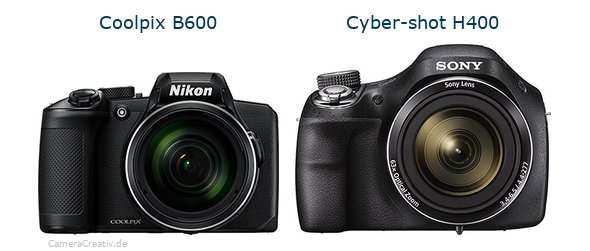 Nikon coolpix b600 vs Sony cyber shot h400