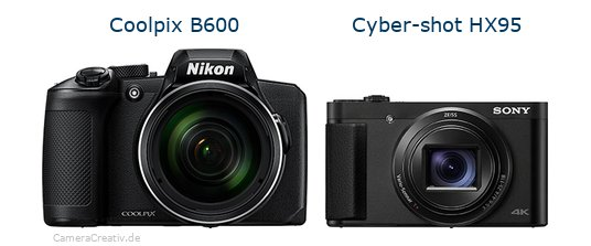 Nikon coolpix b600 vs Sony cyber shot hx 95