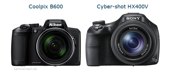 Nikon coolpix b600 vs Sony cyber shot hx400v
