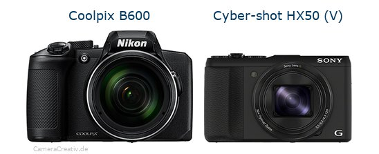 Nikon coolpix b600 vs Sony cyber shot hx50