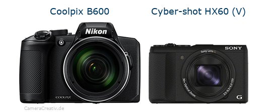 Nikon coolpix b600 vs Sony cyber shot hx60