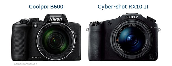 Nikon coolpix b600 vs Sony cyber shot rx10 ii