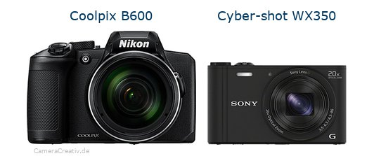 Nikon coolpix b600 vs Sony cyber shot wx350