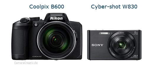 Nikon coolpix b600 vs Sony w830