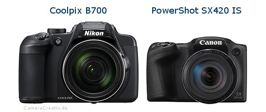 Nikon coolpix b700 oder Canon powershot sx420 is