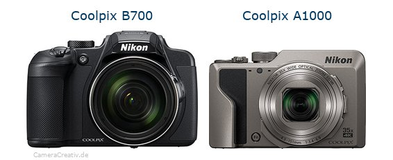 Nikon coolpix b700 vs Nikon coolpix a1000