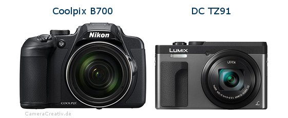Nikon coolpix b700 vs Panasonic dc tz 91