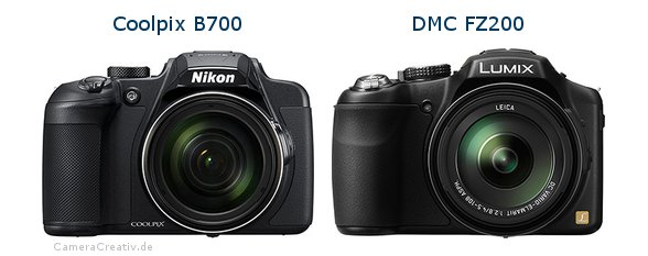 Nikon coolpix b700 vs Panasonic dmc fz 200